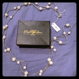 Park Lane Silver Necklace with Pearls - New in Box